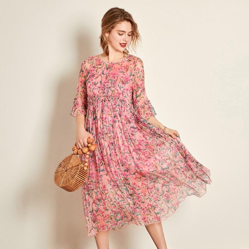 18eb088d9e Floral De Fée Élégant see Femme Ete Chart Grande 2019 Taille Bohème Robe  Robes Été Vintage Femmes ...