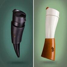Творческий Козьего Рога Кофе Пить Бутылки Из Нержавеющей Стали Вакуумной Изоляцией Термос Бутылки Кубок Путешествия Бутылки с Водой
