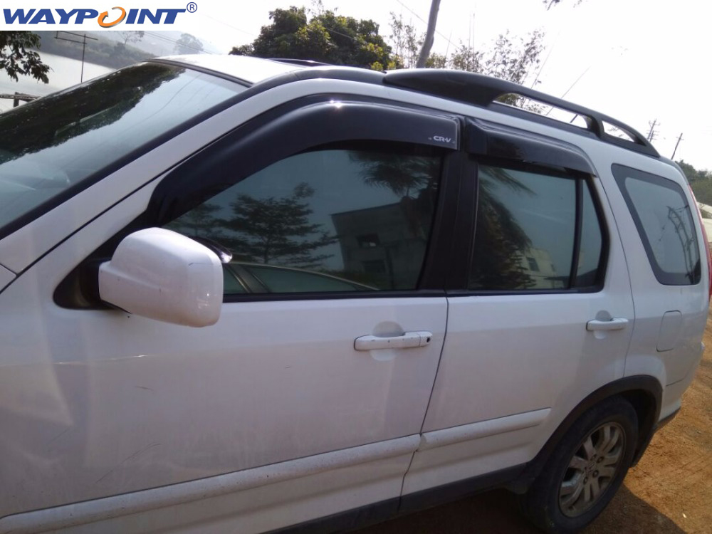 Window Visor Vent For HONDA CRV 2002 2003 2004 2005 2006 montford for honda crv cr v 2004 2005 2006 window visor vent shade rain sun wind guard deflectors awnings shelters cover 4pcs