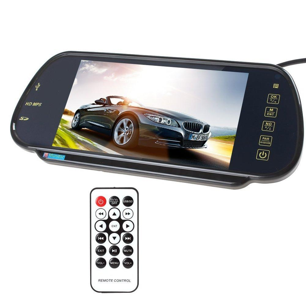 7 Inch 16 9 TFT LCD Widescreen Car Rearview Mirror Monitor with Menu Button Car Monitor