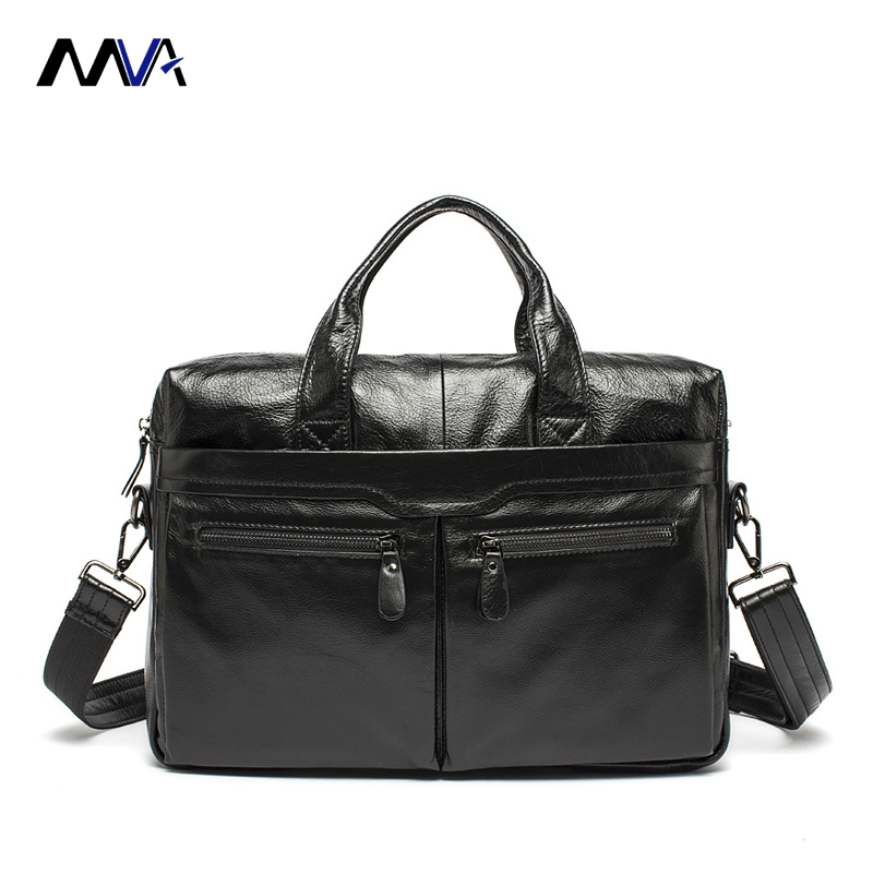 MVA Men Genuine Leather Should Bag Men Business Handbag Men's Briefcases Handbag Leather Laptop Bag Totes Men Crossbody Bags