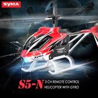 100% Original SYMA S5-N velivoli di RC 3CH elettrico elicottero di telecomando con Giroscopio giocattoli per bambini infrangibili modello