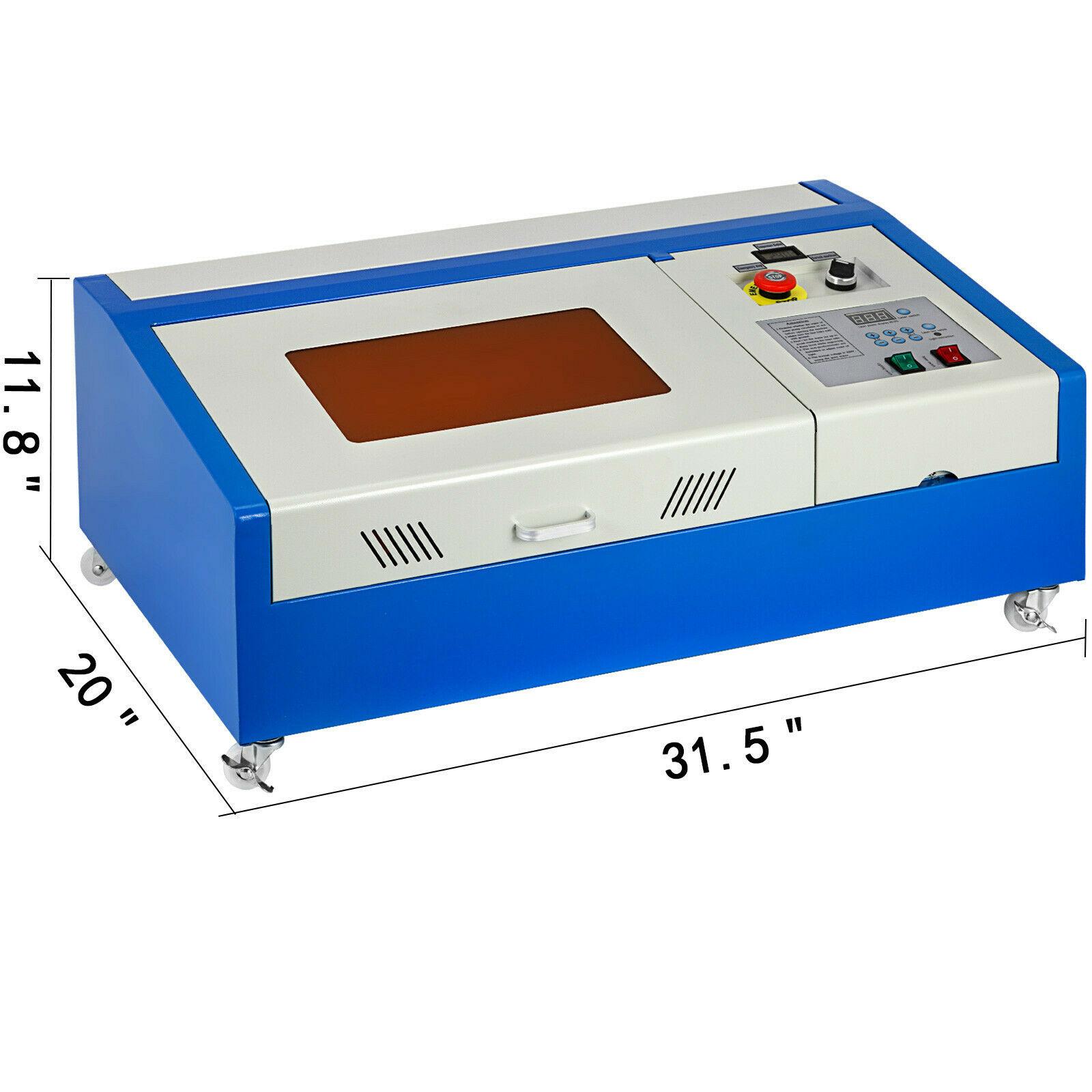 40W CO2 Laser Machine Cutting ...