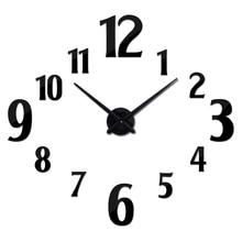 Hot design large 3d wall clock acrylic mirror quartz watch still life clocks living room home decoration Single Face stickers