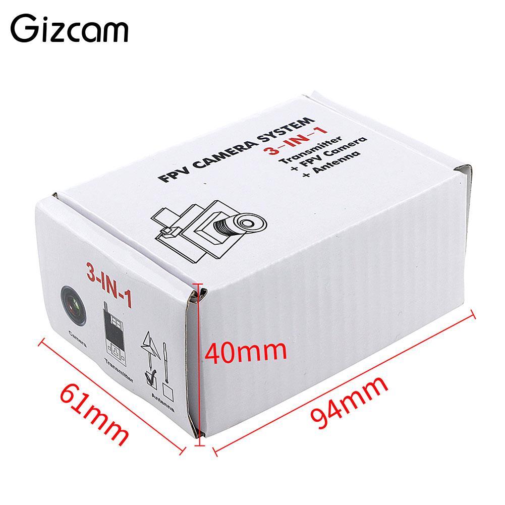 Gizcam JF 03 5.8GHz RC Black Threeleaf Intersection Camera FPV Mushroom Antenna
