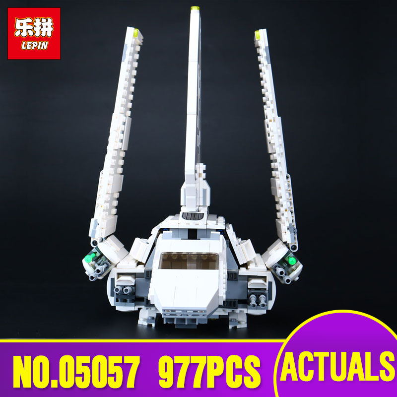 Lepin 05057 Star Series The Imperial Shuttle Set Model Building Kit Blocks Bricks Toy Compatible Gift With legoing 75094 wars toy joy imperial rabbit kit фиолетовый набор из семи секс игрушек