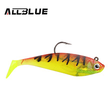 ALLBLUE 3pcs/lot 3D Eyes Lead Fishing Lures 10cm/20g Soft Lure With Single Hook Artificial Bait Jig Wobblers Rubber Jigging Shad