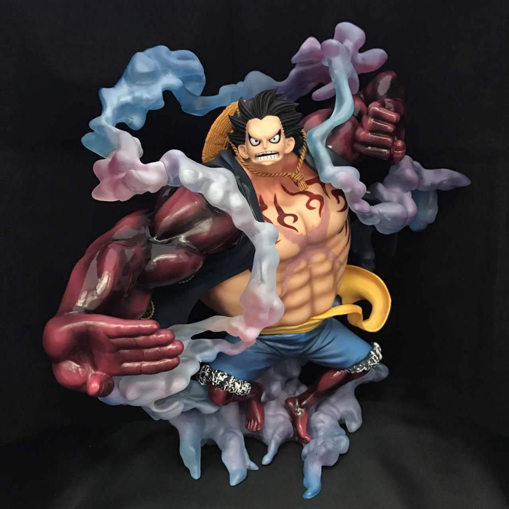 цена на 28CM LUFFY GEAR 4 HAKI SPRING MAN APE KING GUN for the new world EXCELLENT MODEL LIMITED ONE PIECE action figure collectibles