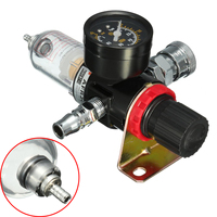 Mayitr 1 4 Oil Water Regulator Air Compressor Regulators Pressure Gauge Moisture Trap Filter