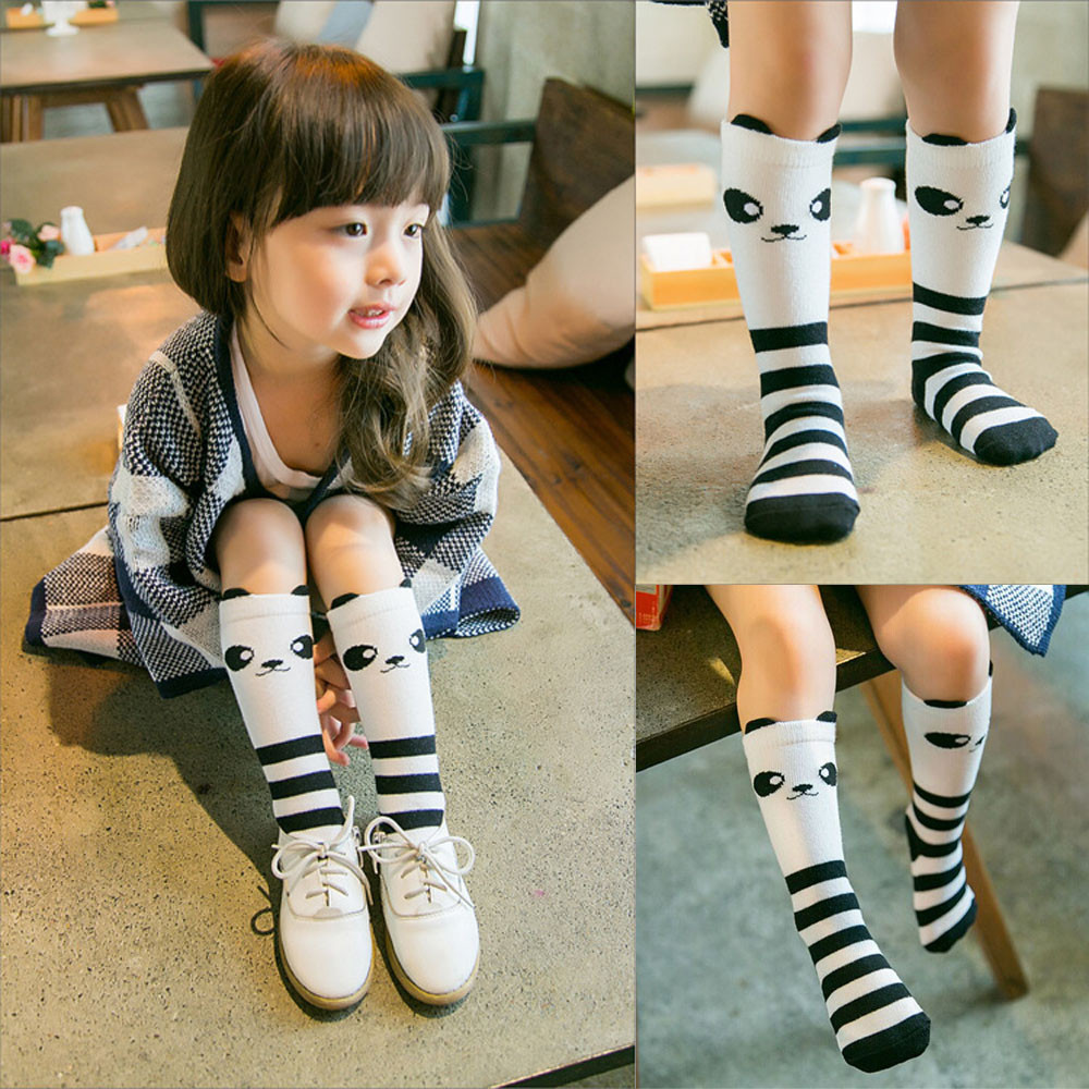 2d89f4b7b Cartoon Cute Girls Socks Print Animal Cotton Kids Socks Knee High Long Girl  Clothing Accessories Totoro Fox Socks Chaussette-in Socks from Mother   Kids  on ...