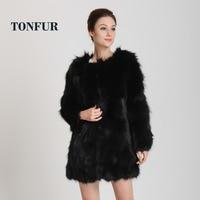 2018 New Arrival Long Genuine Raccoon Fur Coat for women fashion winter warm Real fur coat Free shipping HP62
