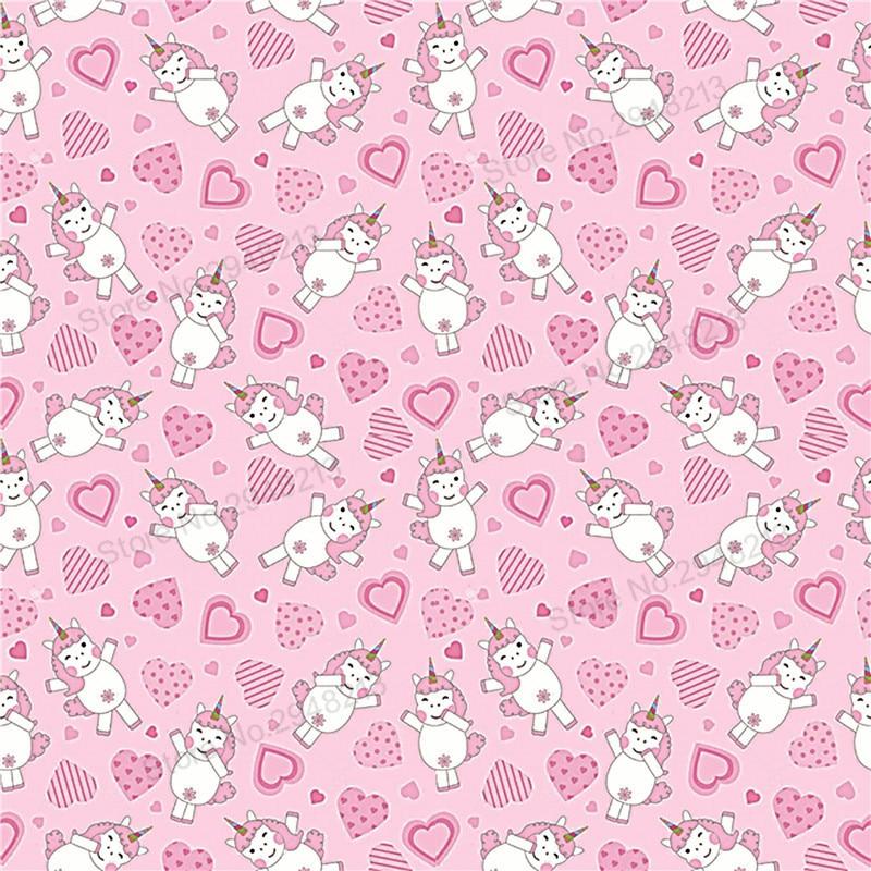 10 шт./лот печатных Единорог сердце любовь Синтетическая кожа ткань Vinly для День святого Валентина волос лук сумки 20 * см 34 см PPUL26