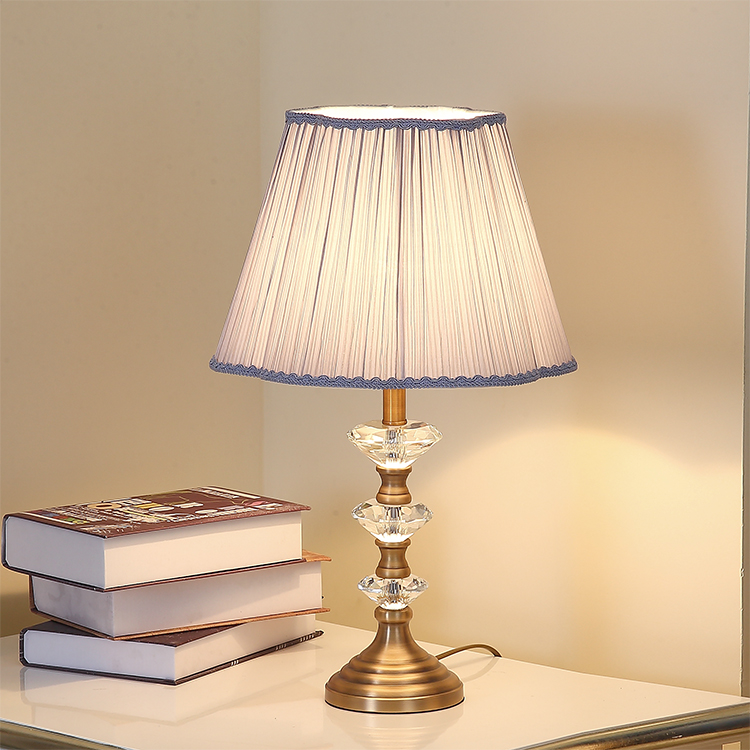 Cloth art crystal table lamp. Bedside lamp art lamp
