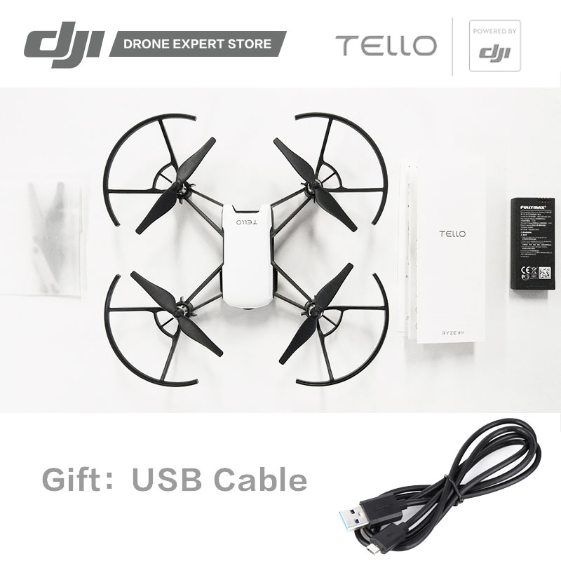 DJI RYZE Tello Drone with DJI Flight Tech 720P Video Wi-Fi Camera Drone RC Toy Drone Gift for Children Education ryze tello drone with dji flight tech camera photography video quadcopter toy drone birthday gift children education