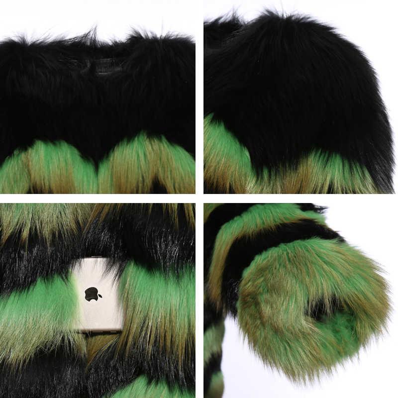 Upscale ของแท้หนัง Coat ใหม่ผลิตภัณฑ์ขนสุนัขจิ้งจอกธรรมชาติ Coat แนวโน้มแฟชั่นผู้หญิงจริง Fox ขนสัตว์