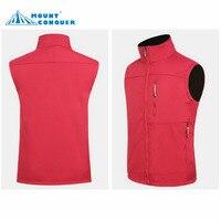 Men & Women Hiking Vest Outdoor Travel Sleeveless Jackets Softshell Waterproof Waistcoats Brand Ski Tech Fleece Clothing