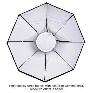 Image 5 - 8 מוט 60cm לבן מתקפל יופי מנה מטריית Softbox עם Bowens הר לסטודיו Strobe פלאש אור