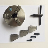 3 Jaw Lathe Chuck K11 100 100mm Manual Self Centering M8 for Welding Positioner Turntable Bench Top Lathe Accessories