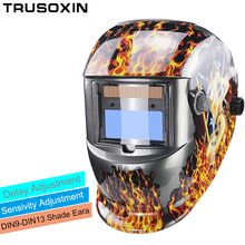 Solar Li auto darkening TIG MIG MMA welding helmets/welder goggles/mask eyes glasses/goggles for machine/Accessories