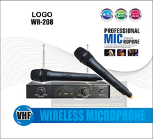 Professional WR208 Handheld Dyanmic VHF Wireless Microphone System Mic For KTV DJ Karaoke Stage Fio Microfono Mikrofon Microfone