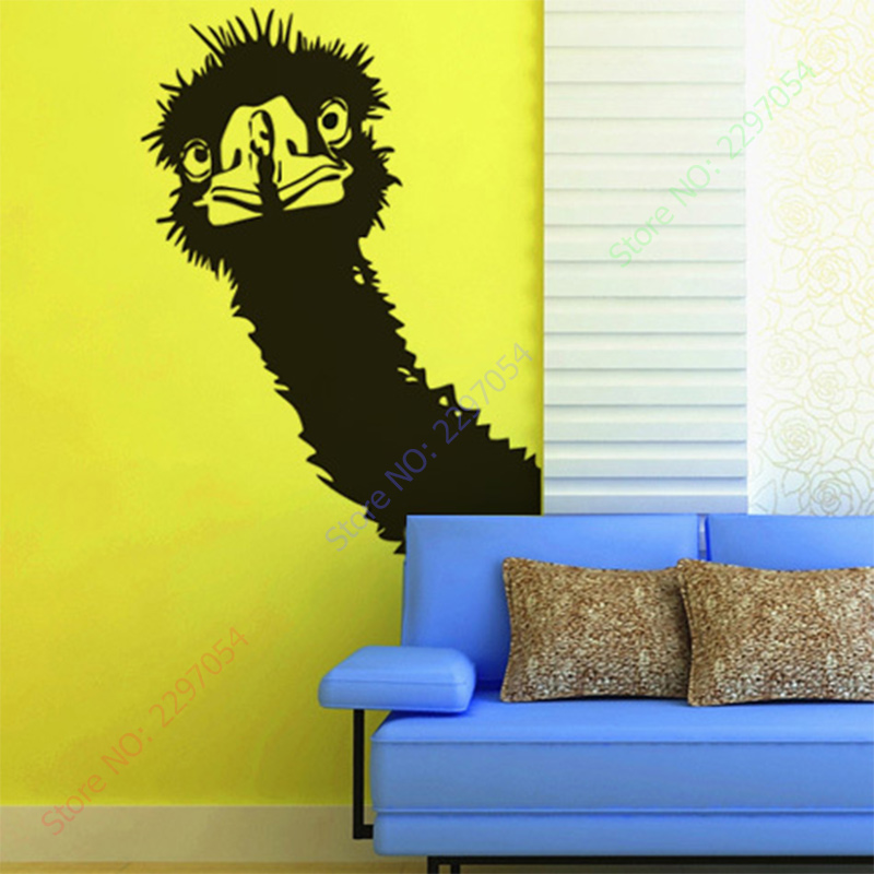 ₪New Wall Stickers Animal Wall decor PVC material decals Ostrich ...