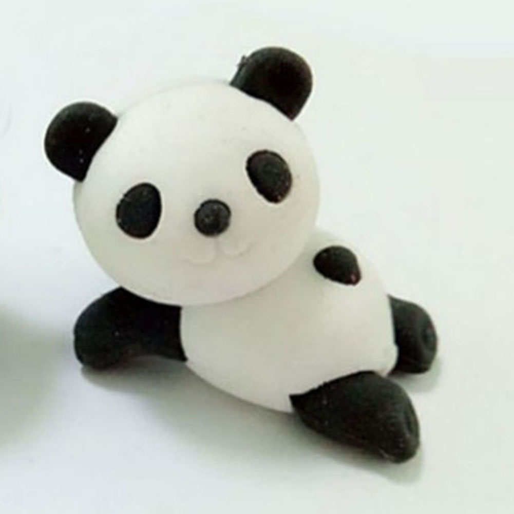 Student Eraser Cute Animal Panda Shape Rubber Eraser For Pencil Stationery School Office Supplies #830 New