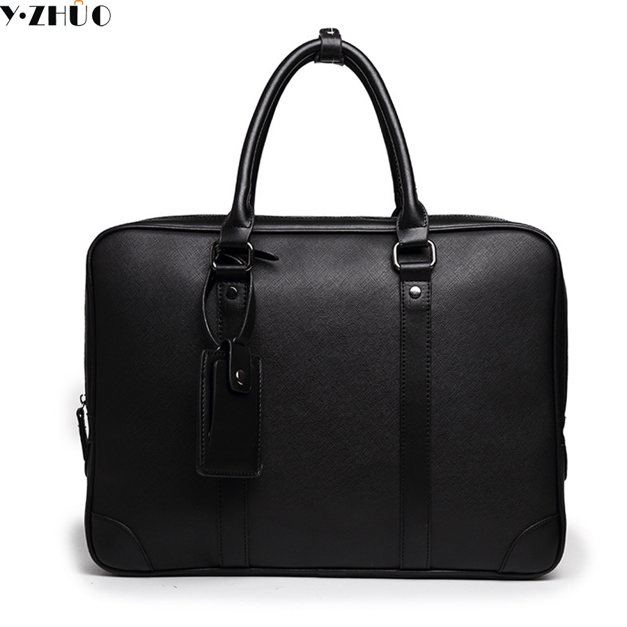 fashion leather briefcase male handbags tote business famous brand crossbody bags for men hot sale shoulder messenger bag black