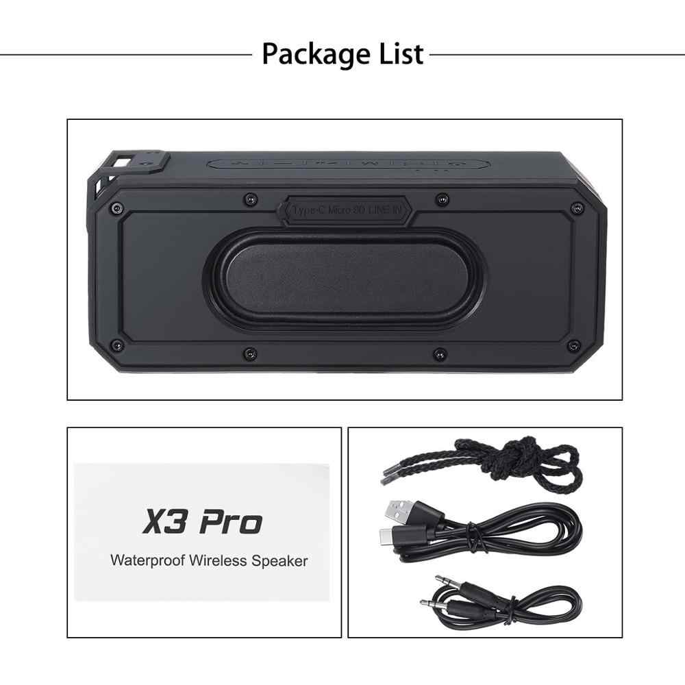 40W głośnik Bluetooth IP7X wodoodporny przenośny głośnik kolumnowy subwoofer ze wzmocnieniem basów Soundbar nagłośnienie Box Music Boom Computer