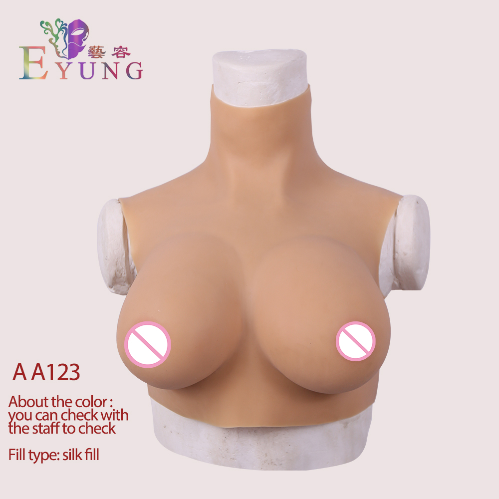 EYUNG 2019 high collar D cups breast forms for crossdressing fake boobs for crossdressers drag queen