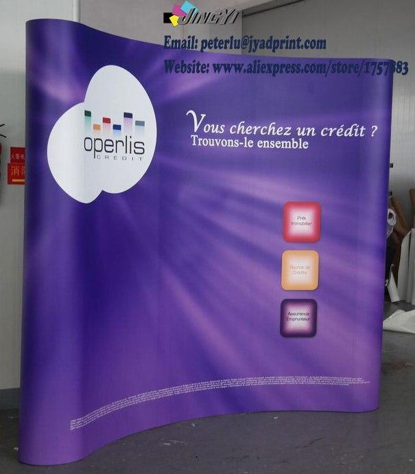 Stěna banneru s magnetickým POP up stojanem (velikost 3X3) / doprava zdarma / Pop-up banner / banner pozadí / zeď na pozadí