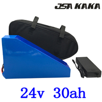 24V Triangle scooter lithium battery 34v 30ah electric bicycle battery 24V 30AH ebike with 30A BMS and 29.4V charger+free bag