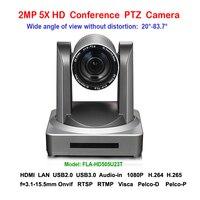 2MP 5x зум Широкий формат 83 градусов HD 1080 P USB HDMI PTZ ip видеоконференции Камера для конференц залы