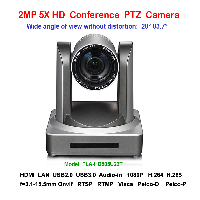 2MP 5x Zoom Wide Angle 83 degree HD 1080P USB HDMI PTZ IP Video conferencing Camera for Conference Rooms top dvi usb3 0 3 3mp ptz video conference camera hd 1 2 8 cmos 20x zoom visca pelco for professional education training system