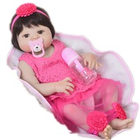 Bebe princess Reborn boneca menina 2357cm DollMai full silicone reborn baby girl dolls toys gift for child