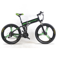 48 V 350 W Elektrikli Bisiklet Dağ Hibrid Elektrikli Bisiklet su geçirmez Çerçeve Içinde Li o 7.8 Ah Akü Katlanır e bisiklet