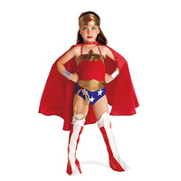 Your Little Girl Wonder Child Girl S Costume Halloween Captain Amarica Kids Superhero Costumes Super Hero