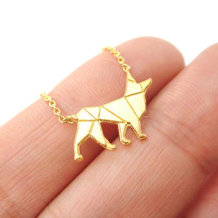113a82ed97459 US $15.99  Daisies 10pcs/lot Pendant Necklace German Shepherd Dog Shaped  Charm Necklaces Gold Silver For Women Animal Jewelry Collier Femme-in  Pendant ...