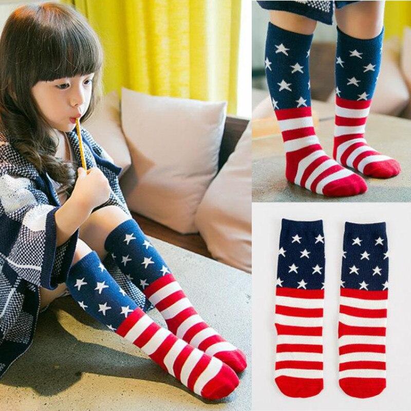 2018 Toddlers Kids Boys Girls Knee High Socks School Cotton Girls Tights Cartoon Baby Boys Stockings For 0-6 Years Old Medias