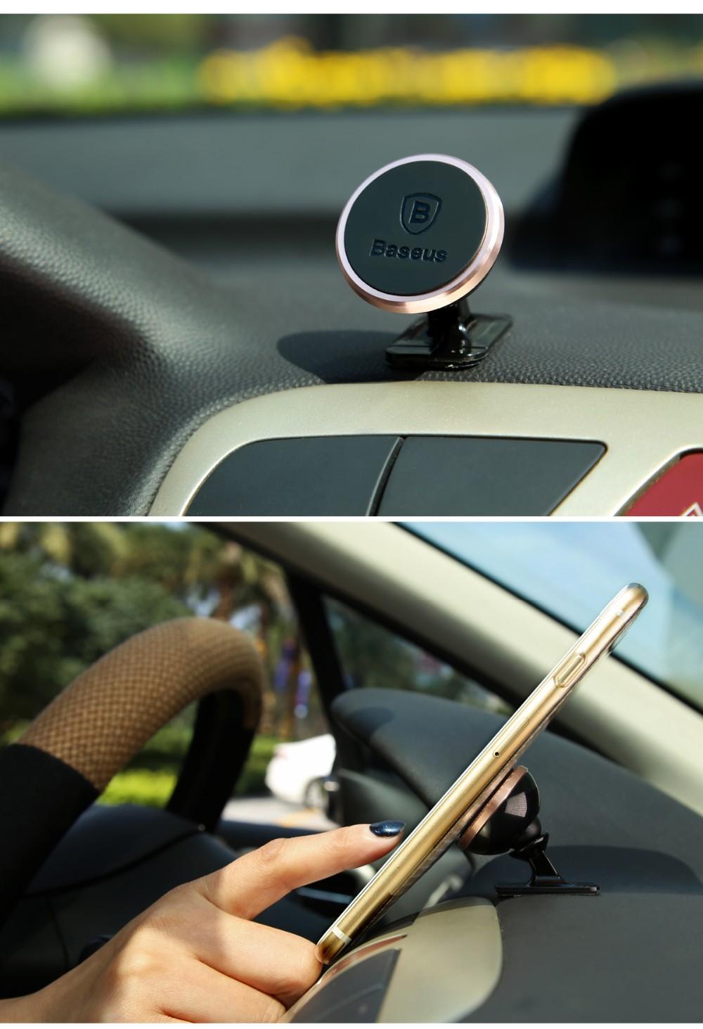 Oryginalny baseus uniwersalny magnetyczny obrót o 360 stopni uchwyt magnetyczny uchwyt samochodowy uchwyt telefonu dla iphone samsung smartphone gps 5