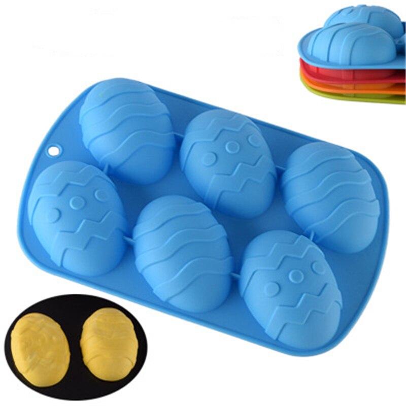 6 большая форма для яиц, силиконовая форма для мыла, рукоделие Форма для пирога, силиконовый шоколад желе пудинг, форма для микроволновая печ...