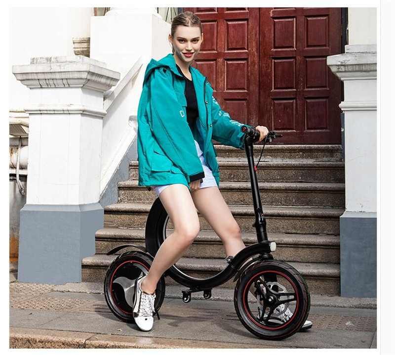 Daibot Mini Electric Bicycle Two Wheel Electric Bicycle 14 Inch 350W 36V 32KMH Foldable Portable Adults Electric Bicycle Bike   (19)