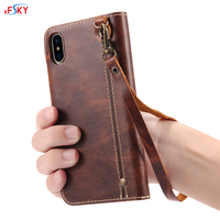 For Apple iphone XR Cases With Credit Card Slots Wallet Stylish Lanyard Magnetic Lock Luxurious Real Genuine Leather Flip Case