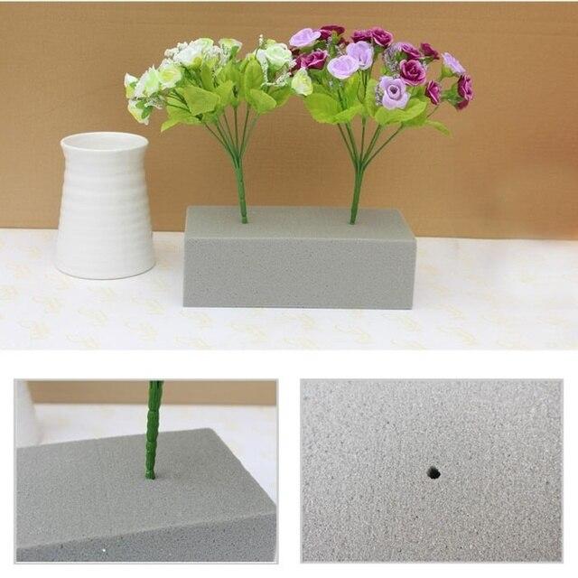 316 Gris Espuma Ladrillo Seco Oasis Floral De Flores De Seda Titular Valla Suelo Arreglo Del Arte De Diy Decoración En Artificial Y Flores Secas