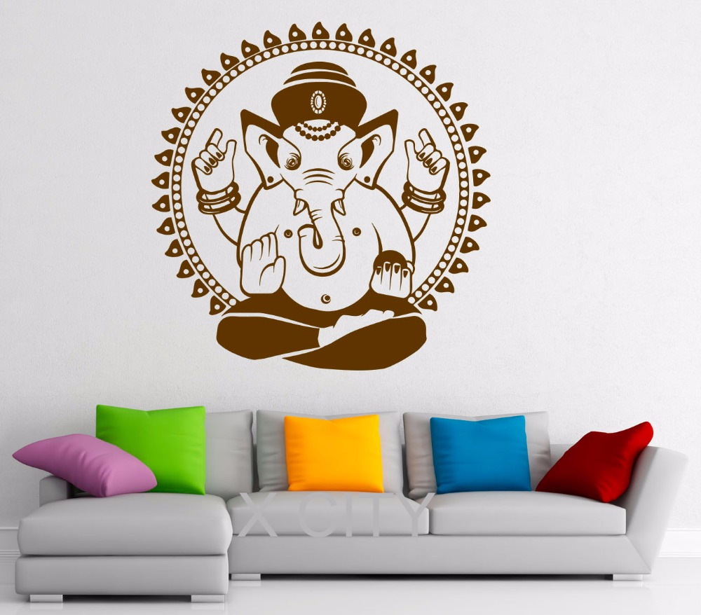 Ganesha Elephant Wall Decal Indian Design Vinyl Stickers