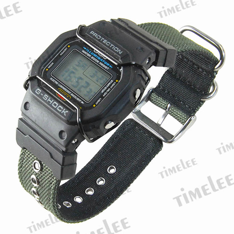 Set of terminals G-SHOCK/GLS/G/GW/GB/<font><b>DW</b></font>-<font><b>5600</b></font>/6900 + Canvas <font><b>strap</b></font> watchbands image