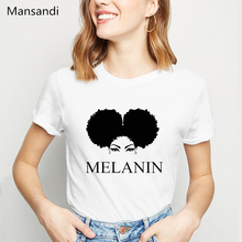 Melanin Shirt vogue t shirt femme graphic tees women clothes 2019 female t-shirt tumblr tops tee streetwear tshirt