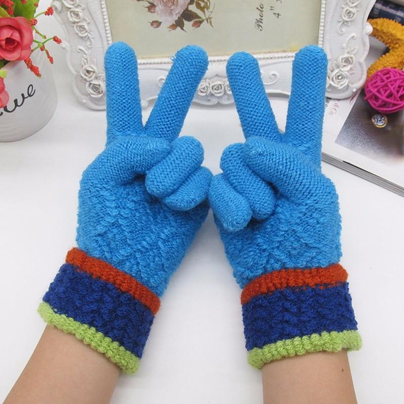 Children Gloves Fingers Winter Gloves Girls Cute Bowknot Cashmere
