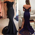 Simple Black Appliques Lace Mermaid Prom Dresses Sexy V-Neck Backless Cap Sleeve Long Prom Dress Cheap Black Evening Party Gowns