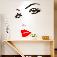 People Crystal Acrylic wall sticker 3d three dimensional creative living room bedroom dining room entrance backdrop decoration