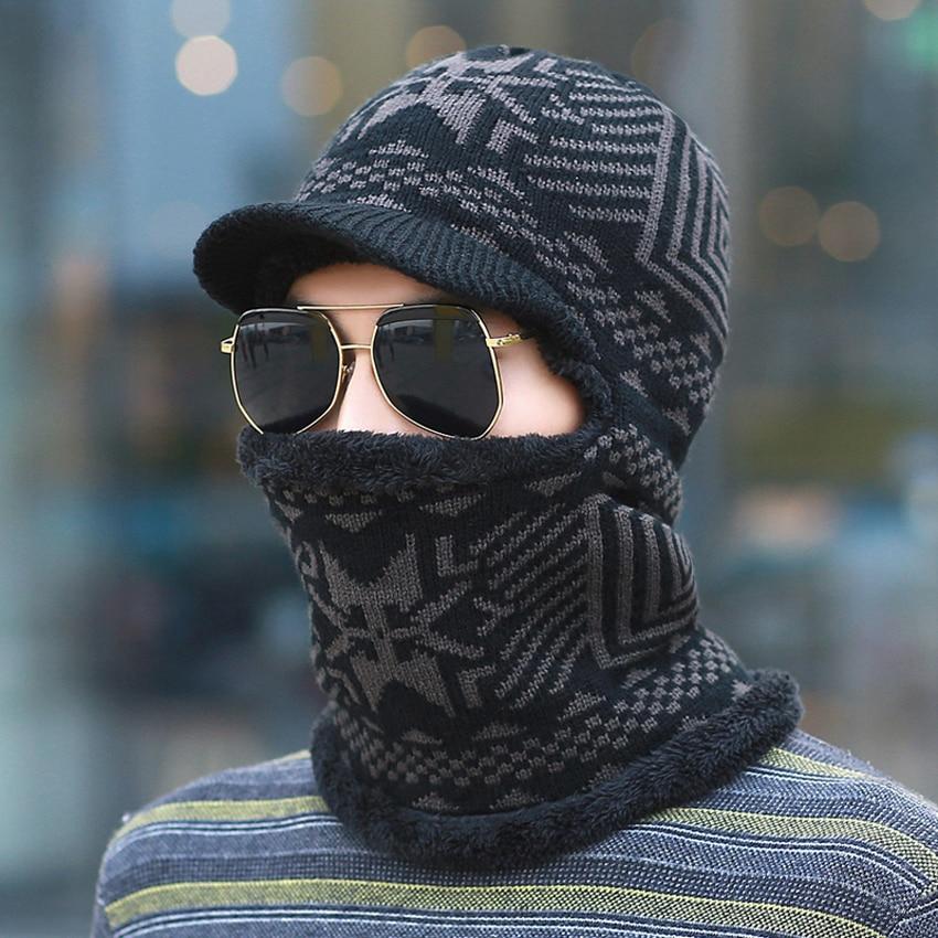 Bkone New Balaclava Winter Men S Skullies Wool Knitted